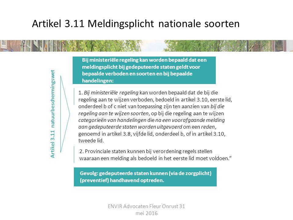 Artikel 3.11 Meldingsplicht nationale soorten