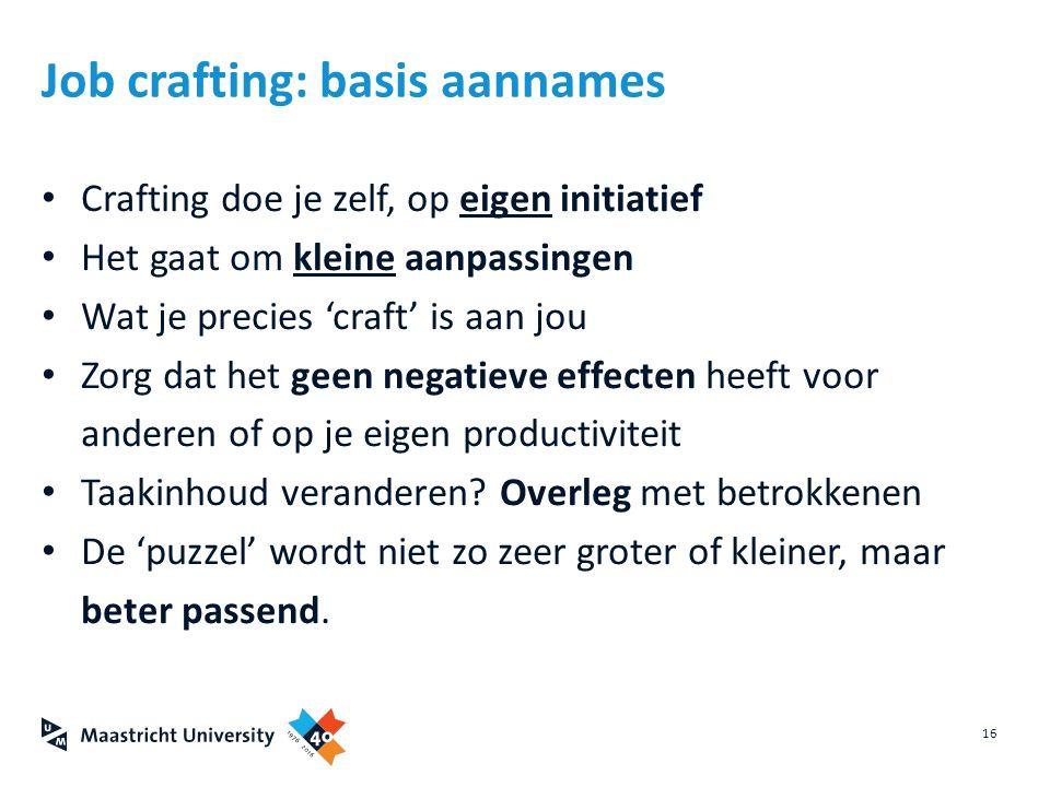 Job crafting: basis aannames