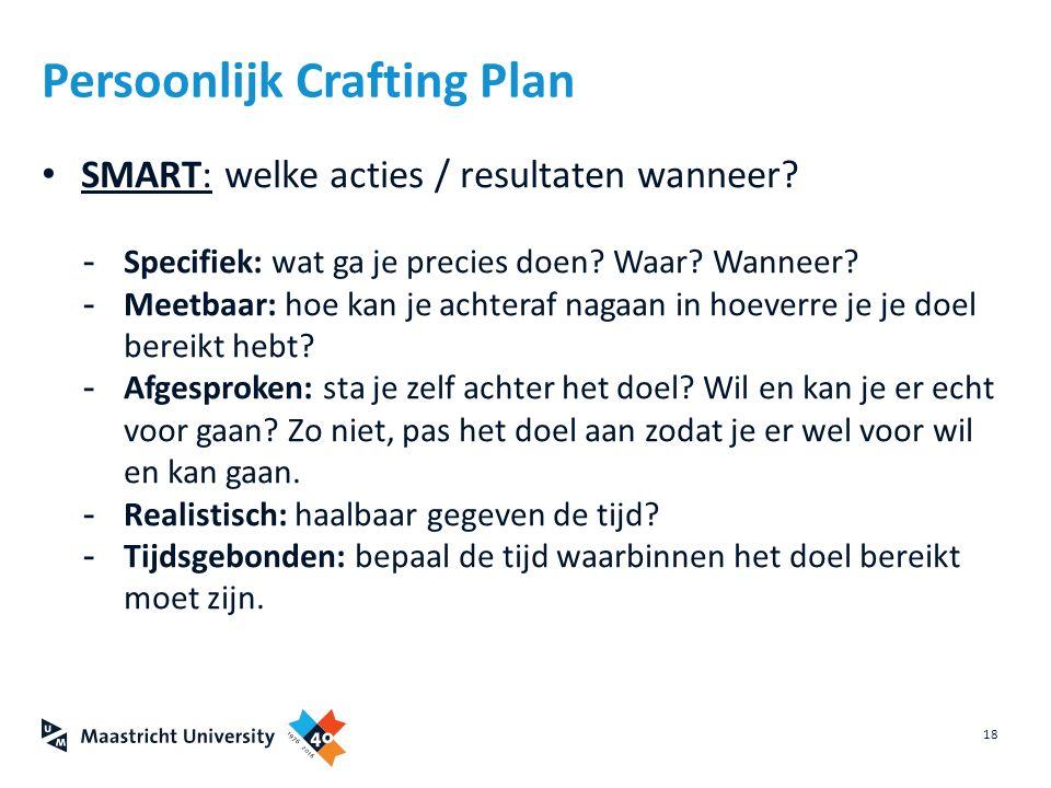 Persoonlijk Crafting Plan