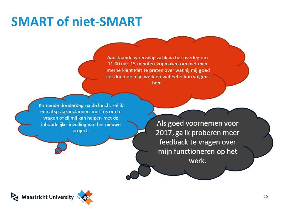 SMART of niet-SMART