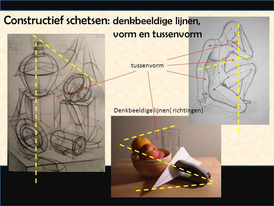 Constructief schetsen: denkbeeldige lijnen, vorm en tussenvorm