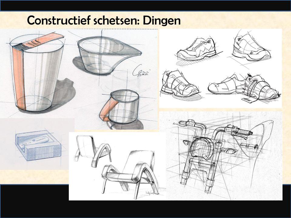 Constructief schetsen: Dingen