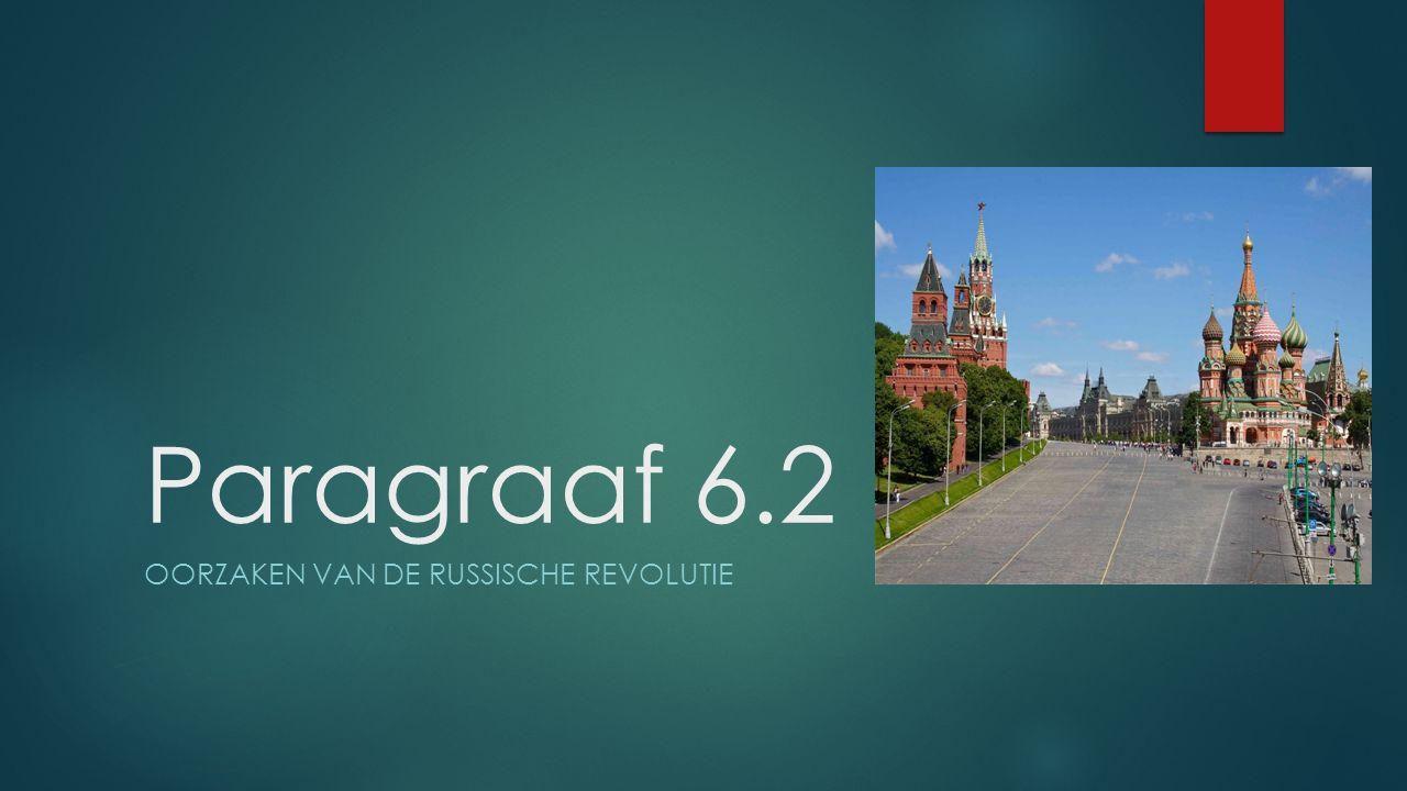 Oorzaken van de Russische Revolutie