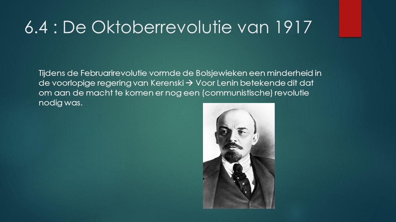 6.4 : De Oktoberrevolutie van 1917