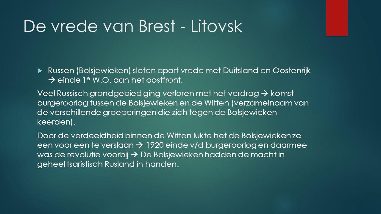 De vrede van Brest - Litovsk