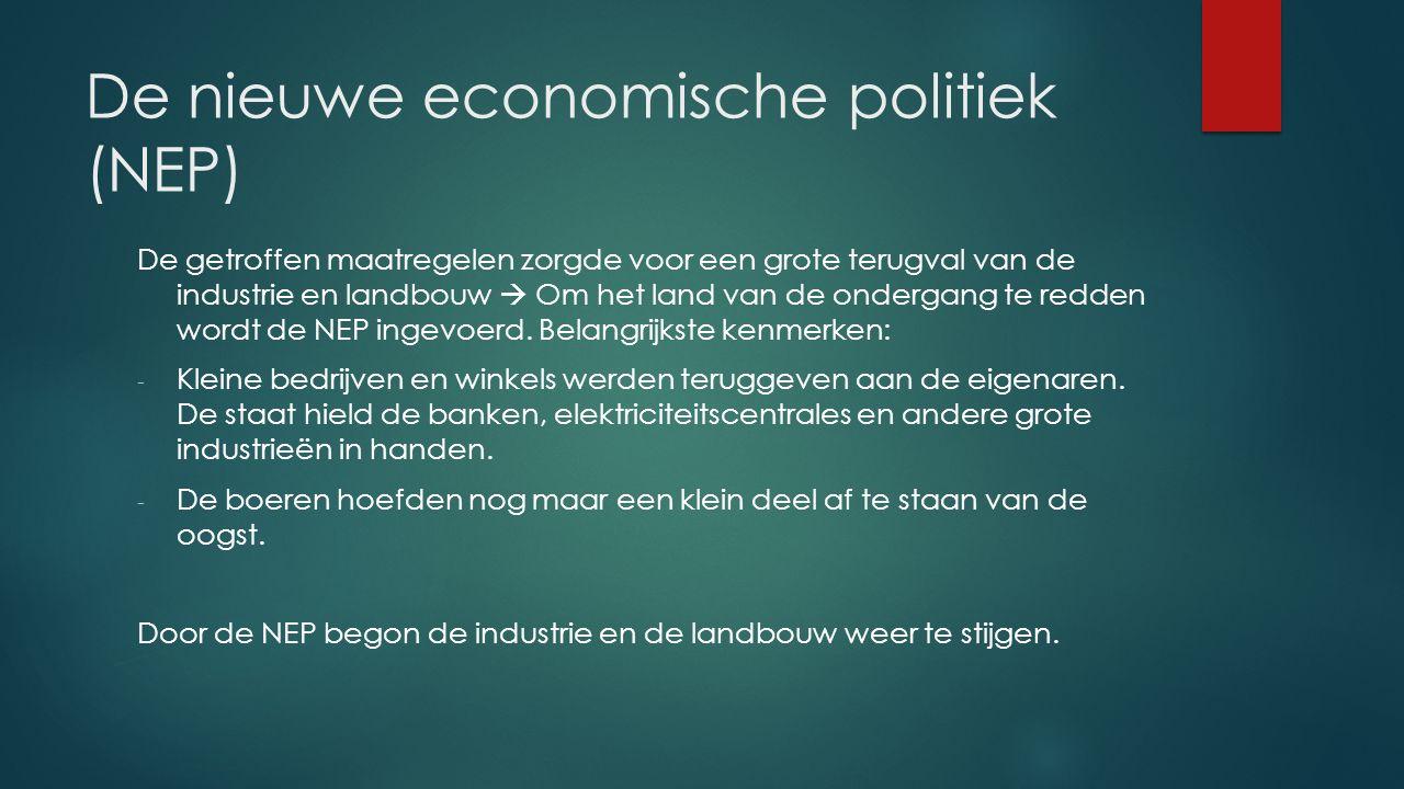De nieuwe economische politiek (NEP)