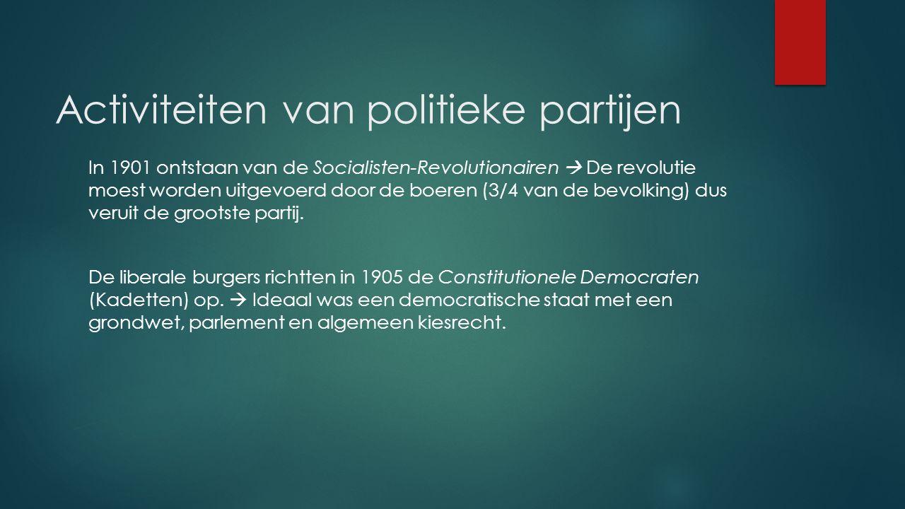 Activiteiten van politieke partijen