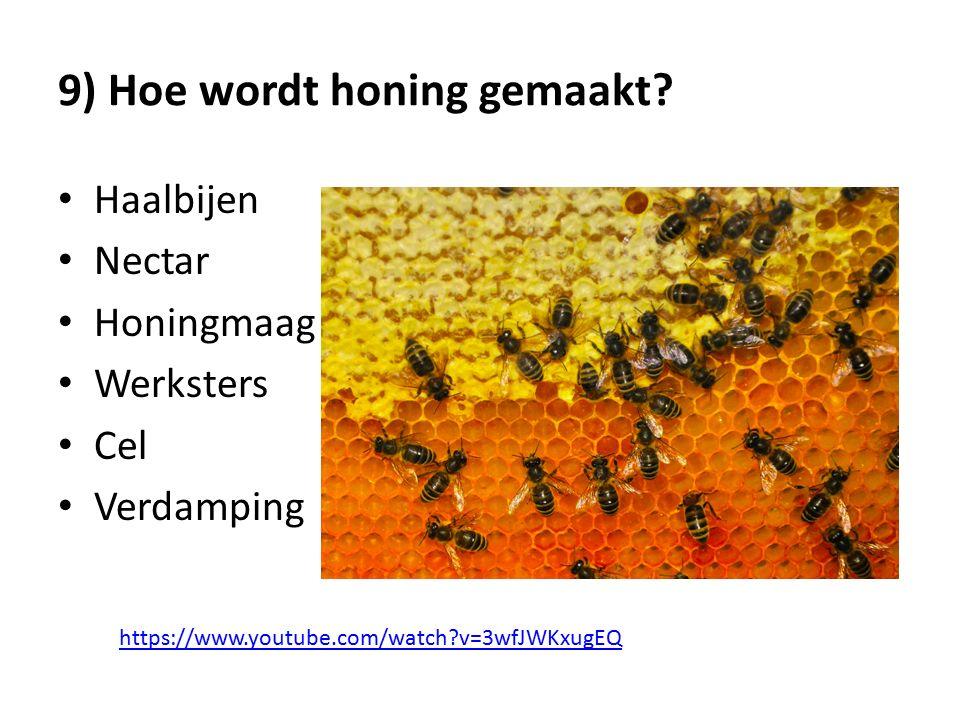 9) Hoe wordt honing gemaakt