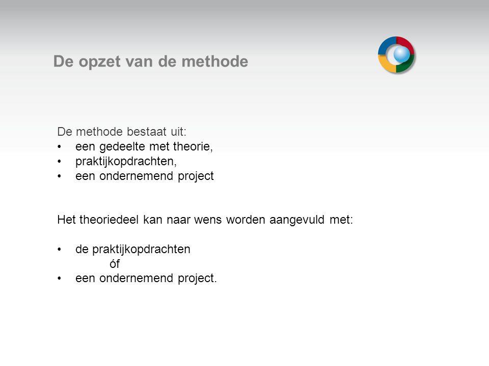 Welkom De opzet van de methode De methode bestaat uit: