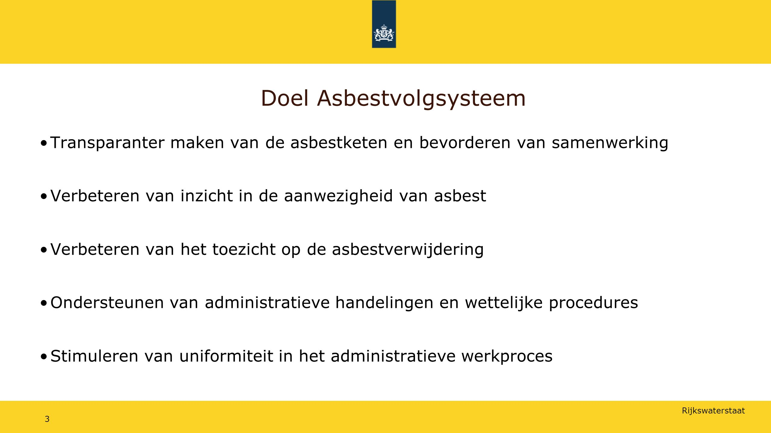 Doel Asbestvolgsysteem