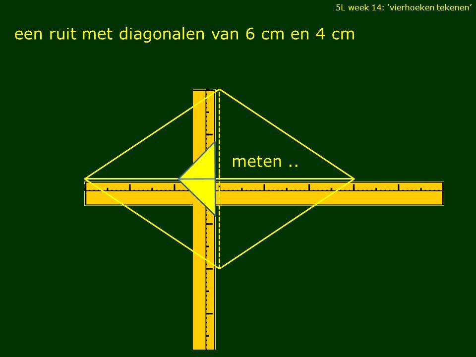 een ruit met diagonalen van 6 cm en 4 cm