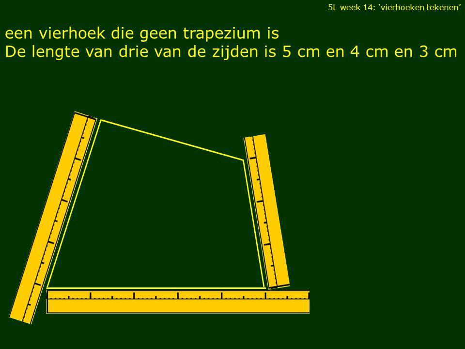 een vierhoek die geen trapezium is