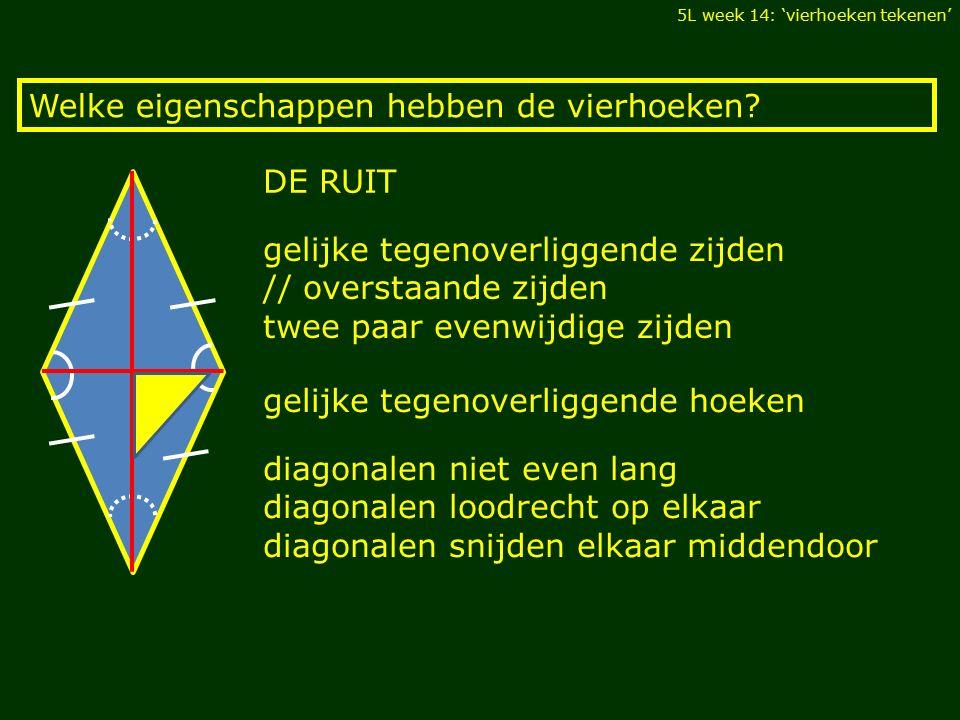 Welke eigenschappen hebben de vierhoeken