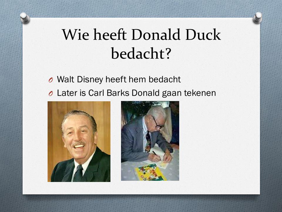 Wie heeft Donald Duck bedacht