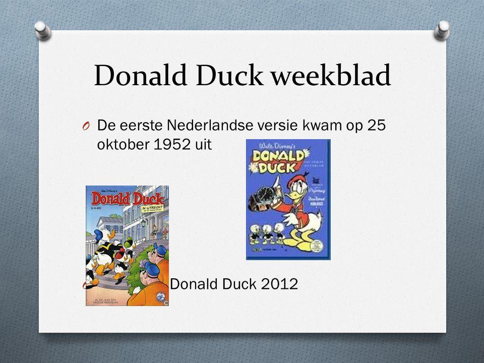 Donald Duck weekblad De eerste Nederlandse versie kwam op 25 oktober 1952 uit Donald Duck 2012