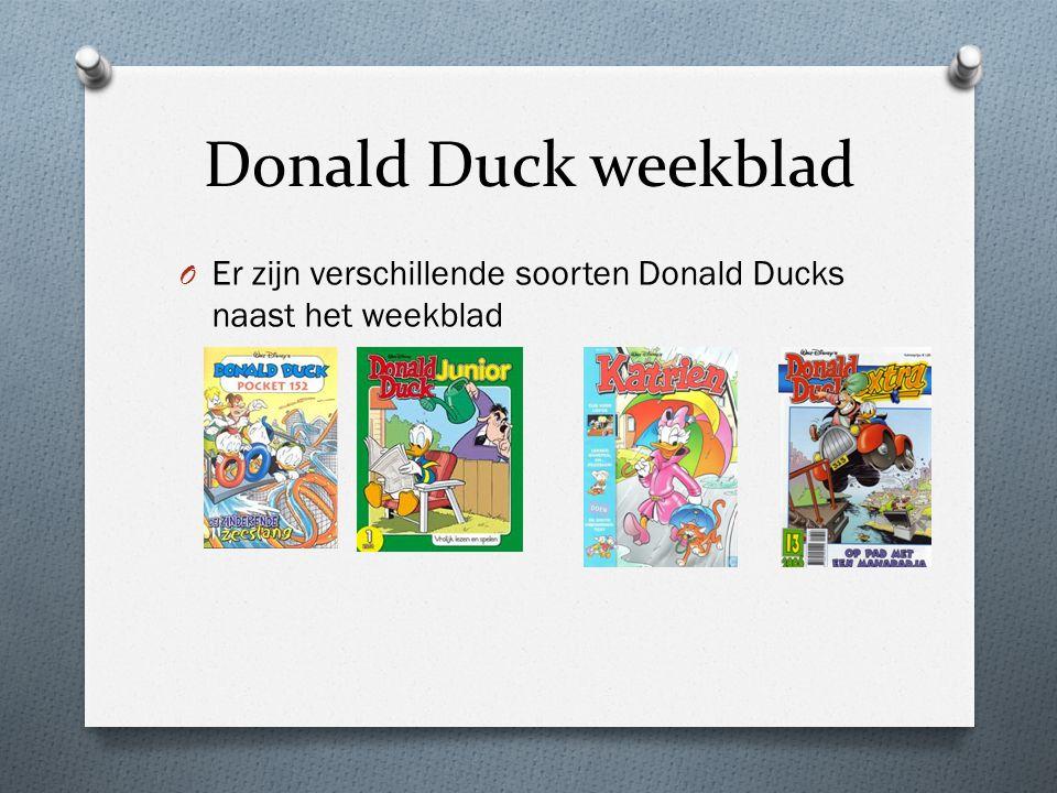 Donald Duck weekblad Er zijn verschillende soorten Donald Ducks naast het weekblad