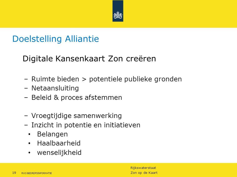 Doelstelling Alliantie