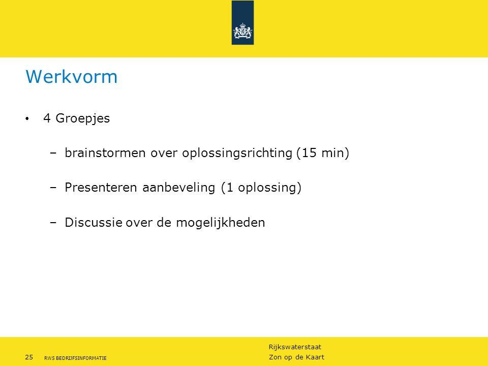 Werkvorm 4 Groepjes brainstormen over oplossingsrichting (15 min)