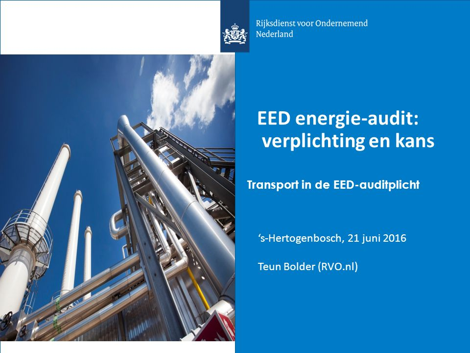 EED energie-audit: verplichting en kans