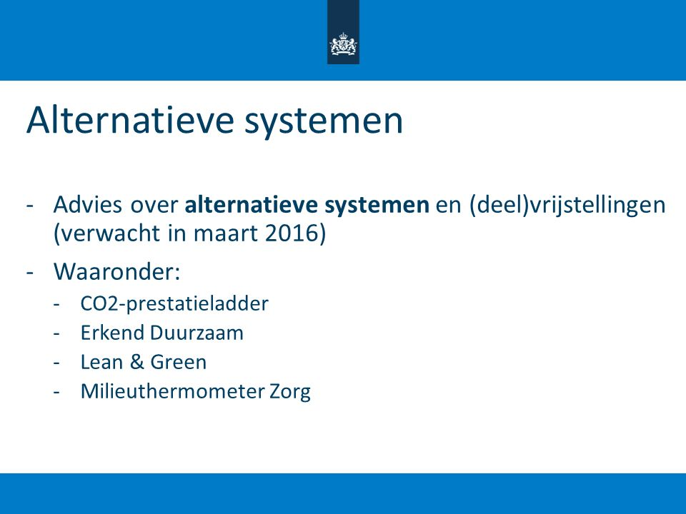 Alternatieve systemen