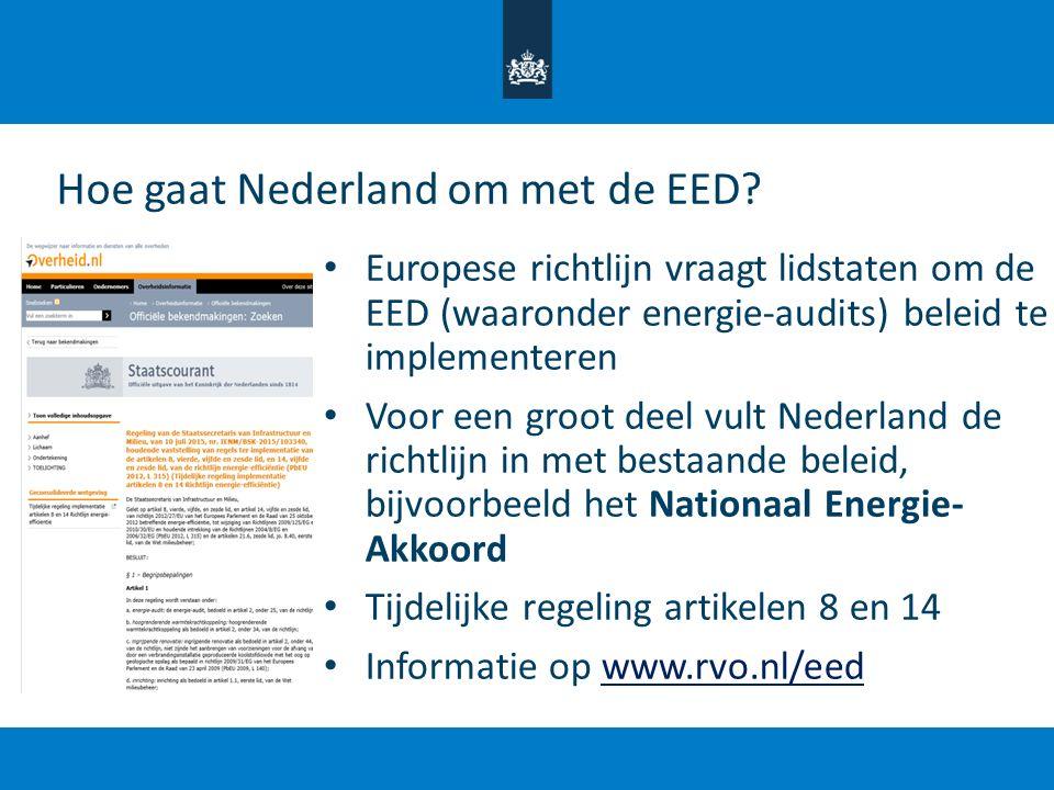 Hoe gaat Nederland om met de EED