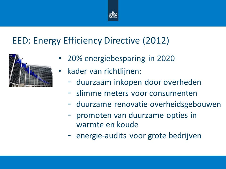 EED: Energy Efficiency Directive (2012)