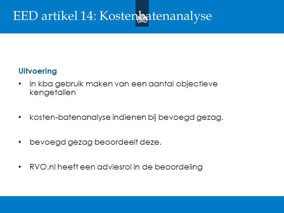 EED artikel 14: Kosten-batenanalyse