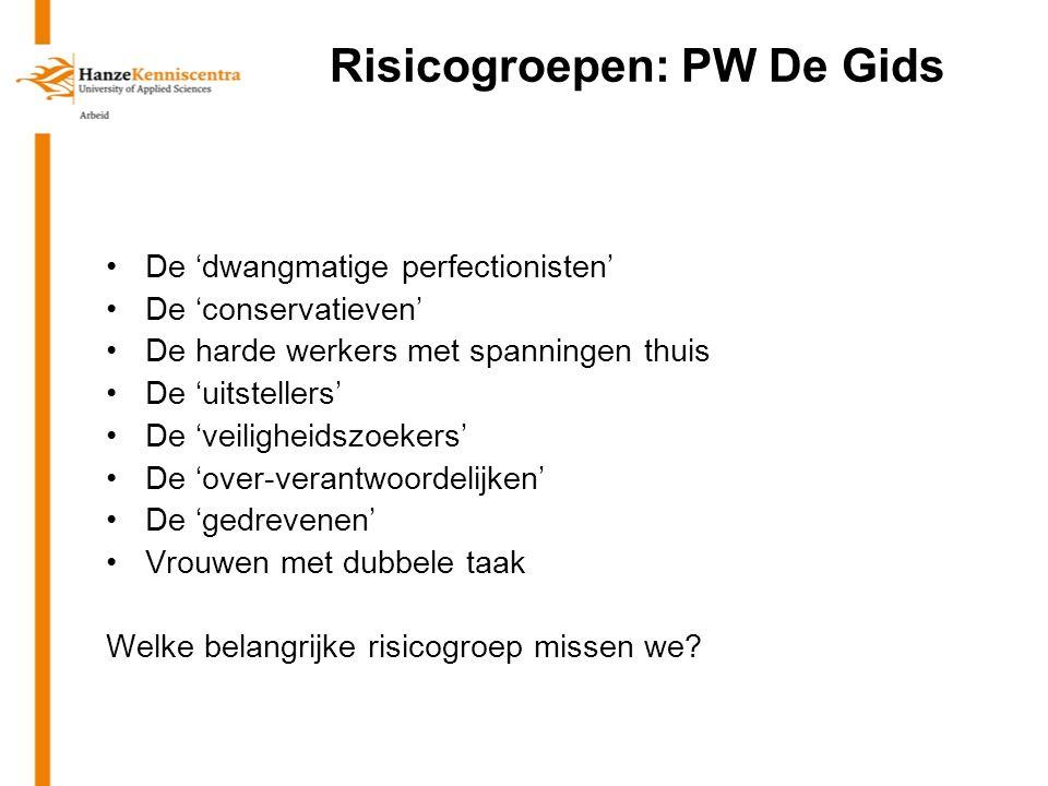 Risicogroepen: PW De Gids