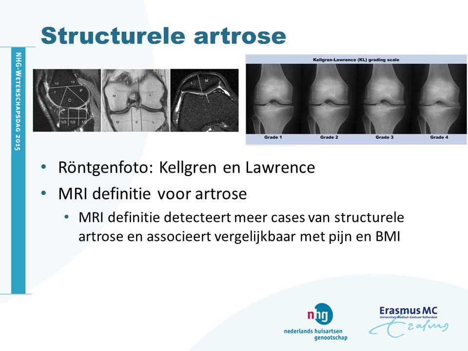 Structurele artrose Röntgenfoto: Kellgren en Lawrence