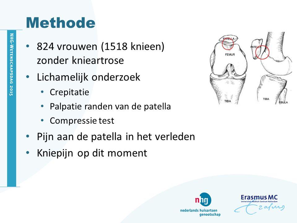 Methode 824 vrouwen (1518 knieen) zonder knieartrose
