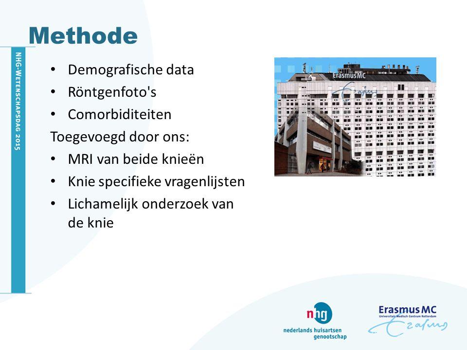 Methode Demografische data Röntgenfoto s Comorbiditeiten