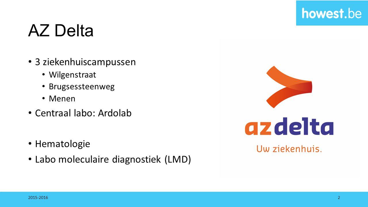 AZ Delta 3 ziekenhuiscampussen Centraal labo: Ardolab Hematologie