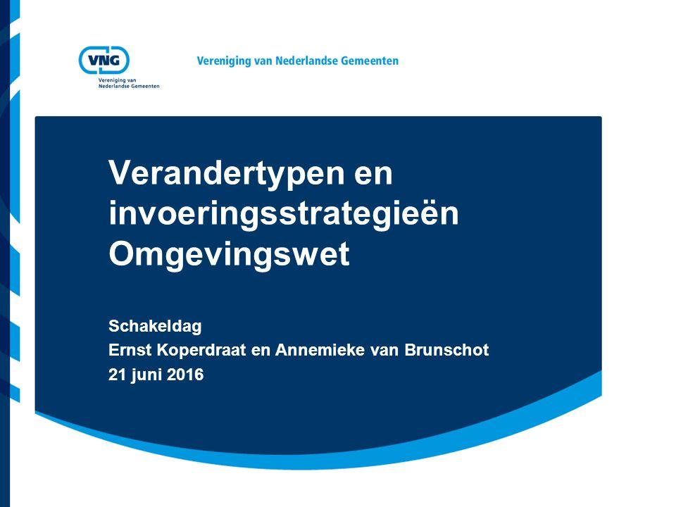 Verandertypen en invoeringsstrategieën Omgevingswet