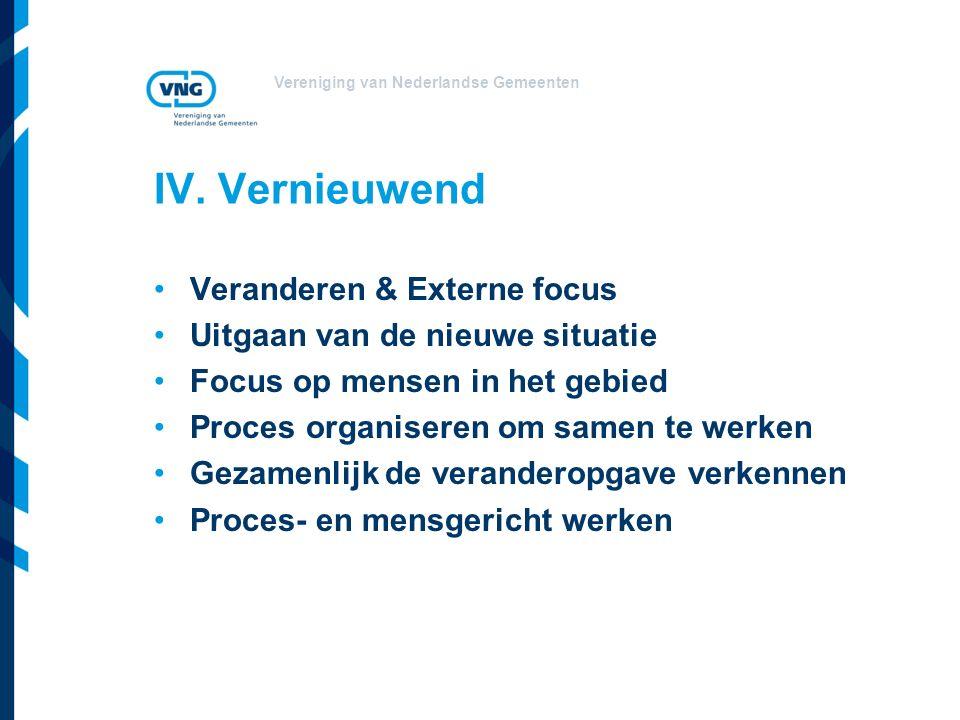 IV. Vernieuwend Veranderen & Externe focus