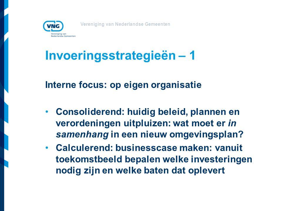 Invoeringsstrategieën – 1