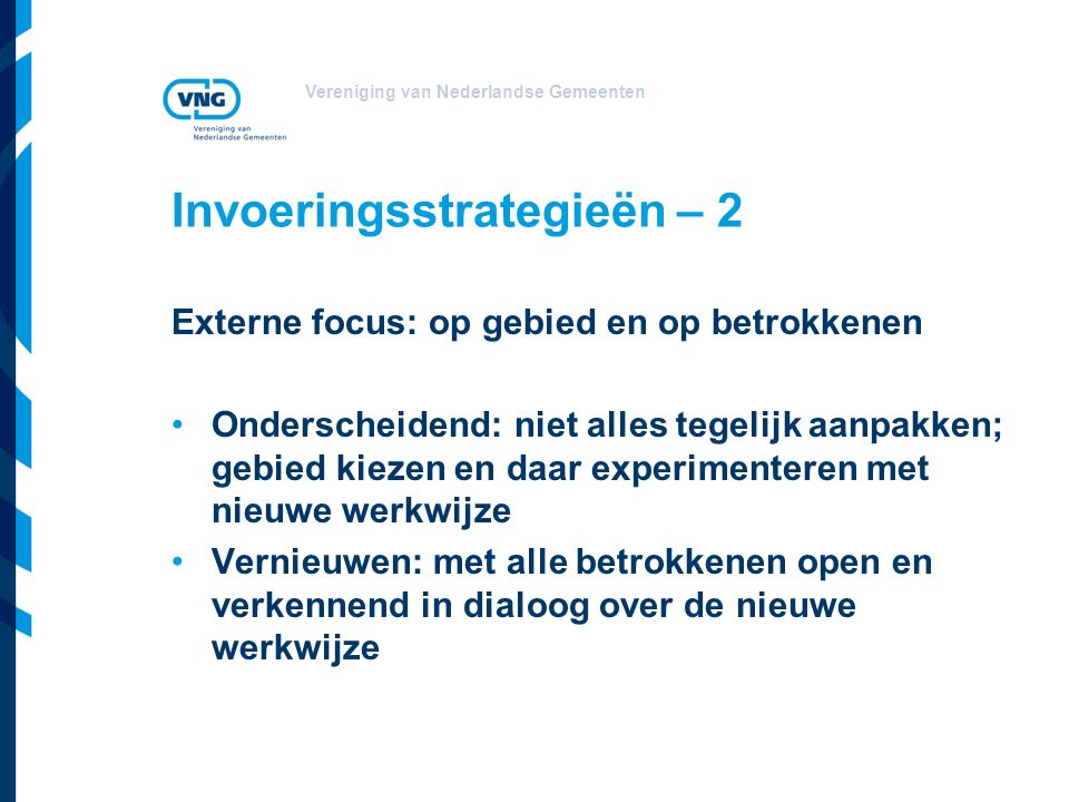 Invoeringsstrategieën – 2