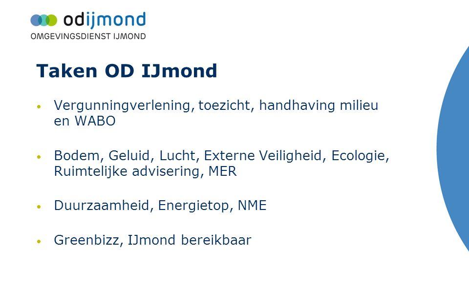 Taken OD IJmond Vergunningverlening, toezicht, handhaving milieu en WABO.