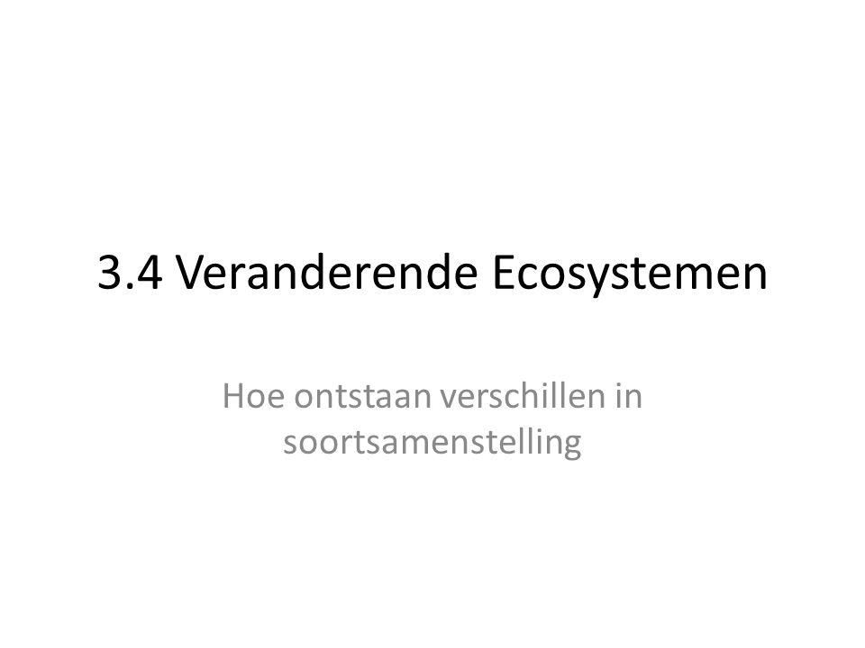 3.4 Veranderende Ecosystemen