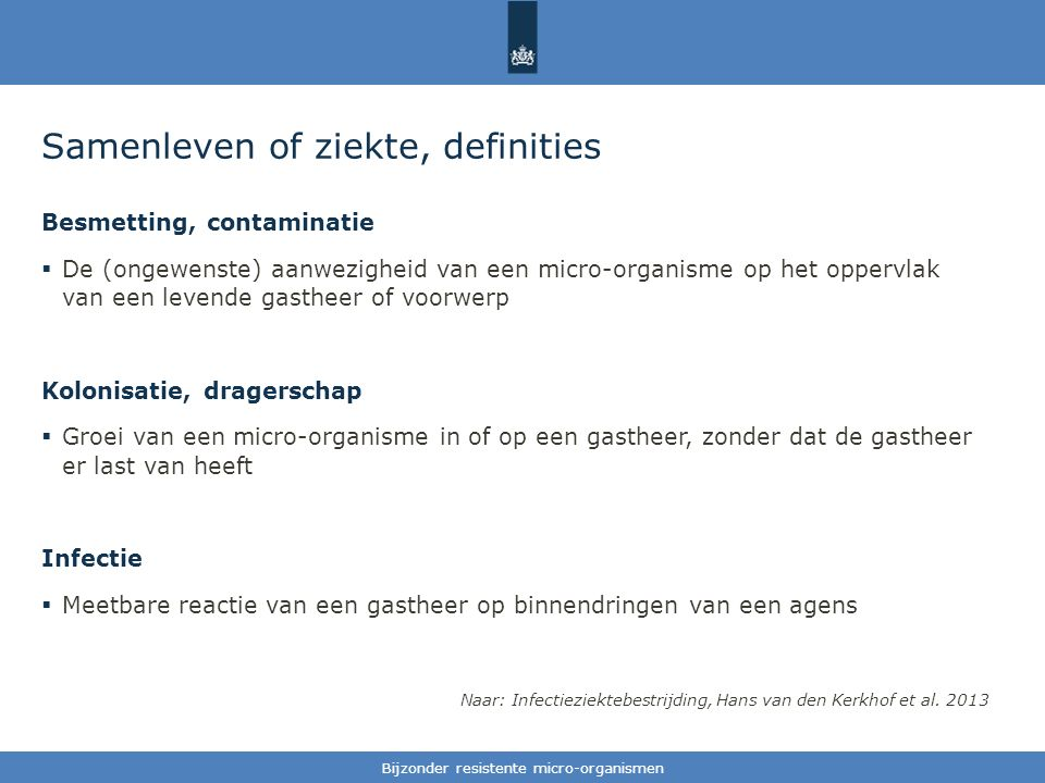 Samenleven of ziekte, definities