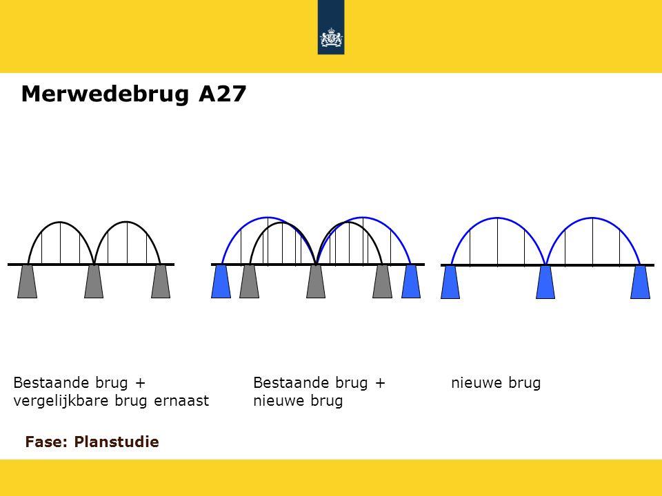 Merwedebrug A27 Bestaande brug + vergelijkbare brug ernaast