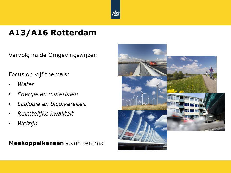 A13/A16 Rotterdam Vervolg na de Omgevingswijzer: