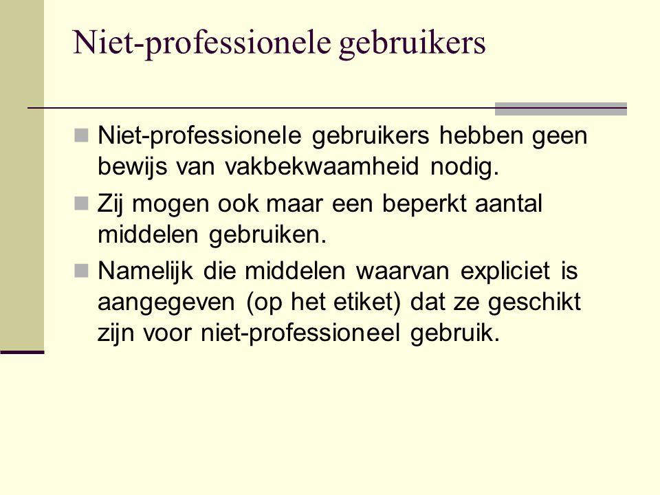 Niet-professionele gebruikers