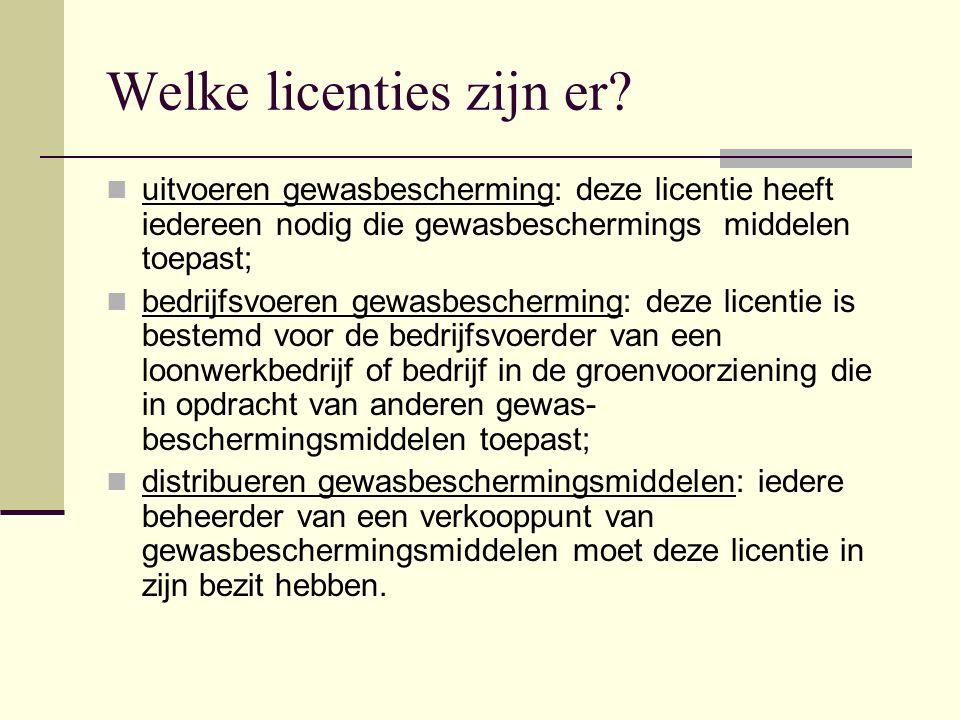 Welke licenties zijn er