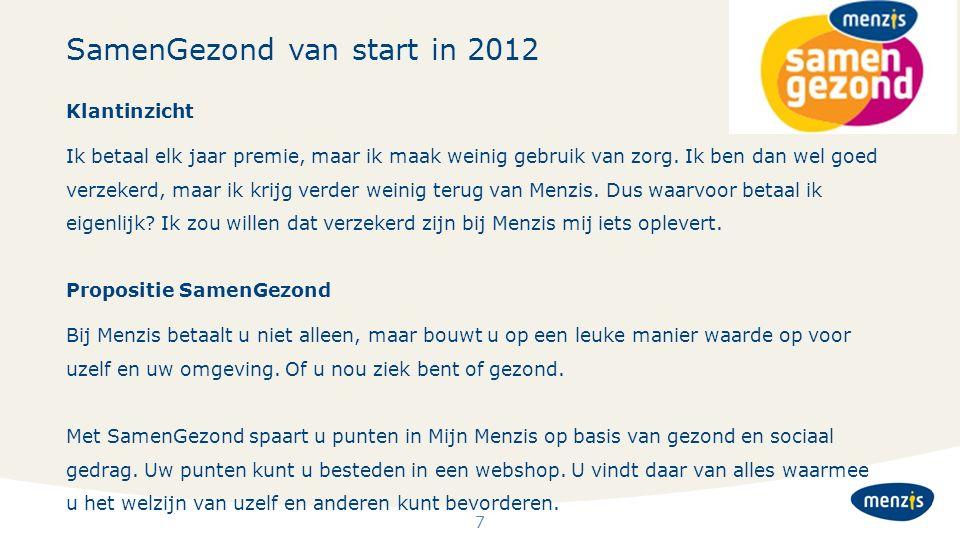 SamenGezond van start in 2012