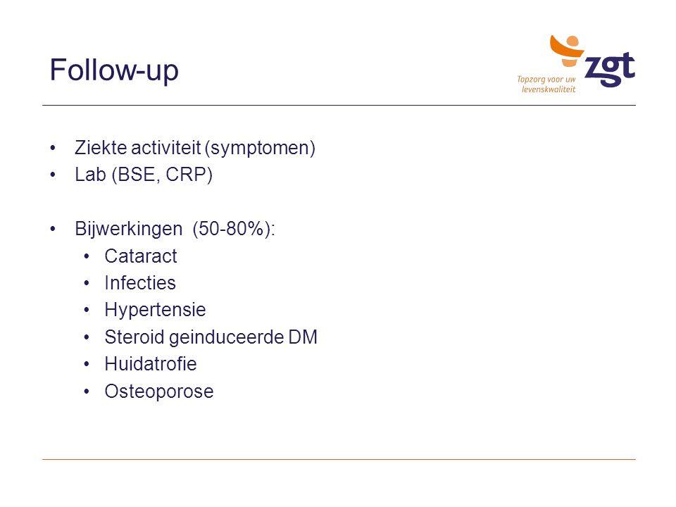 Follow-up Ziekte activiteit (symptomen) Lab (BSE, CRP)