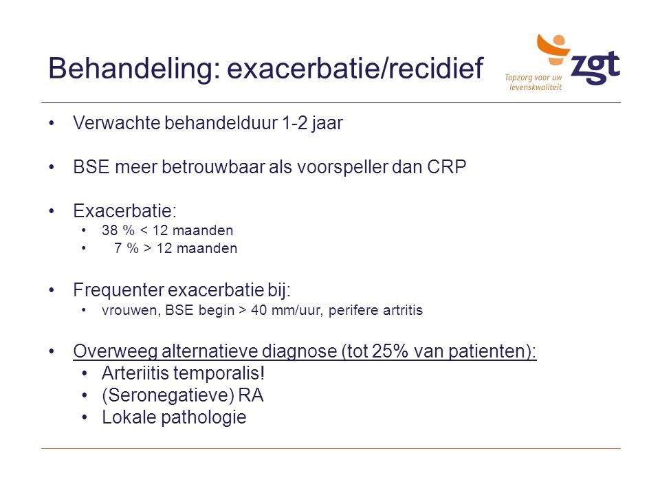 Behandeling: exacerbatie/recidief