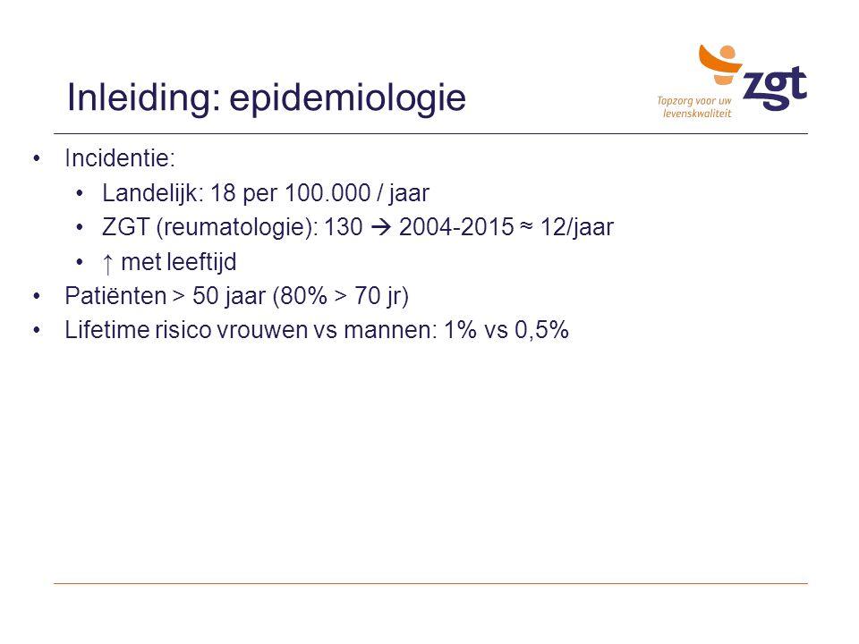 Inleiding: epidemiologie