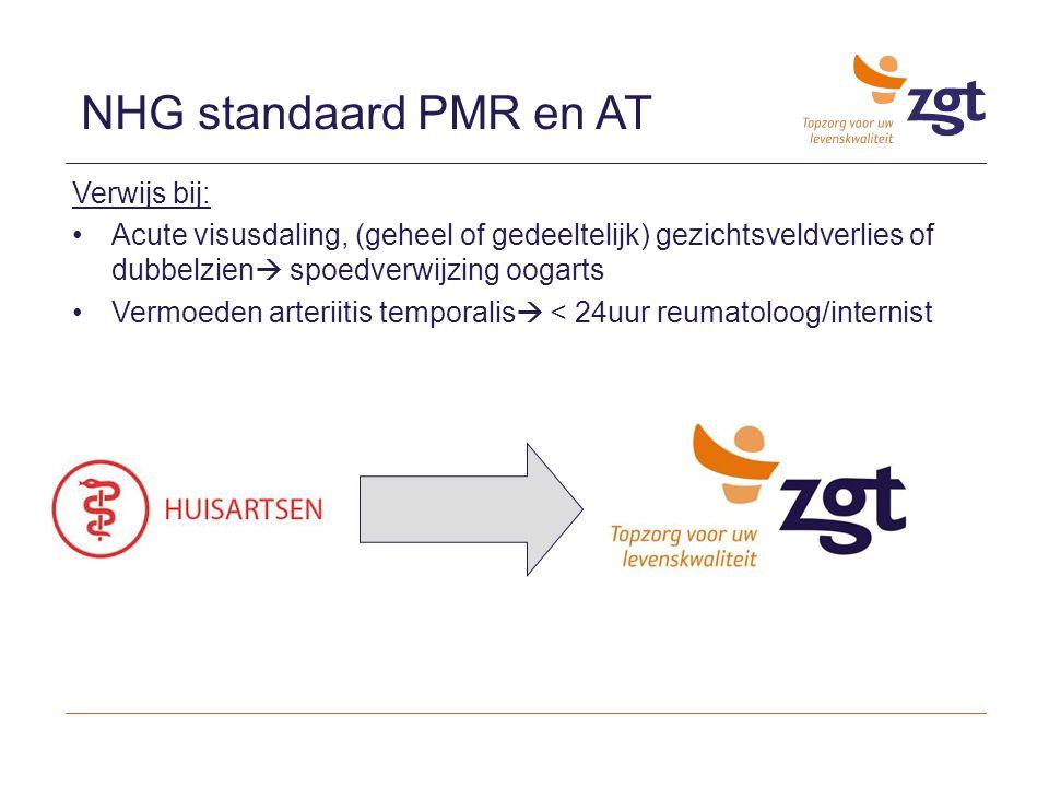 NHG standaard PMR en AT Verwijs bij: