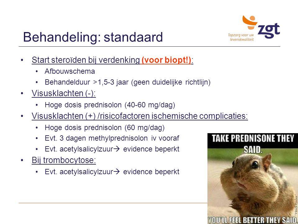 Behandeling: standaard