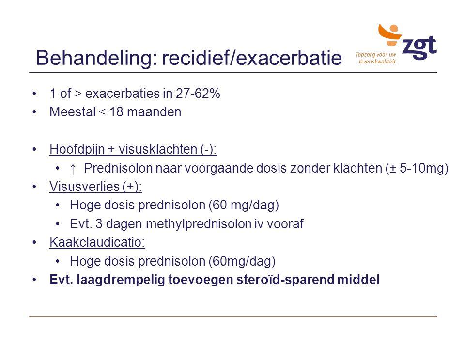 Behandeling: recidief/exacerbatie